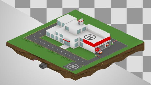 Thumbnail for Isometric Fire Station