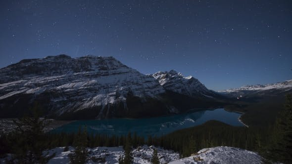 Thumbnail for Stars Moving Over Peyto Lake