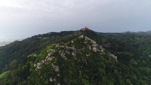 Thumbnail for Drone Flying Over Mountain Portugal Landscape, Sintra