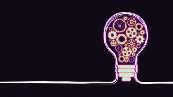 Light Bulb Concept with Gears