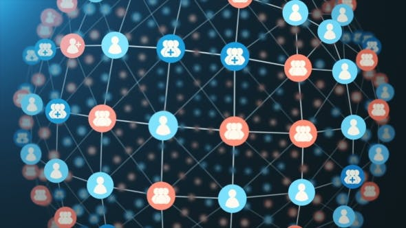 Cover Image for Social Network Loopable Concept Sphere