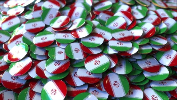 Thumbnail for Pile of Badges Featuring Flags of Iran