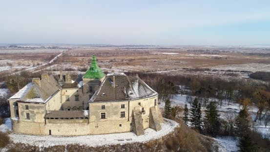 Thumbnail for Aerial View of the Olesky Castle and Residential Neighborhoods Near It
