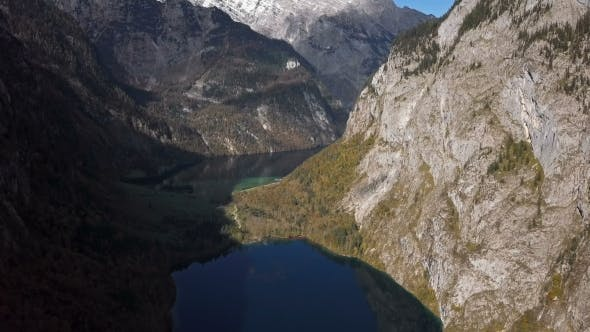 Thumbnail for Aerial View of Obersee Lake, Berchtesgaden, Germany