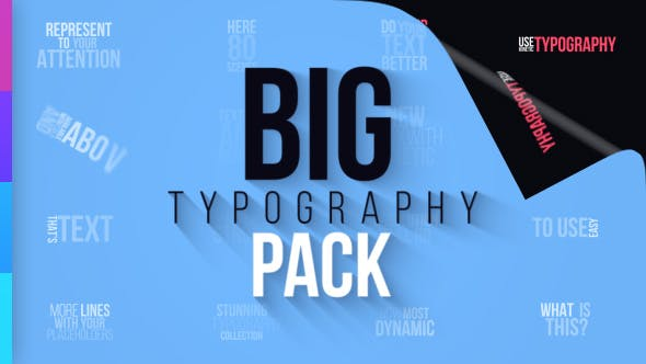 Thumbnail for Big Typography Pack