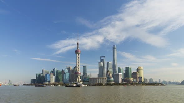 Thumbnail for Shanghai Skyline at Sunny Day. Lujiazui District. China