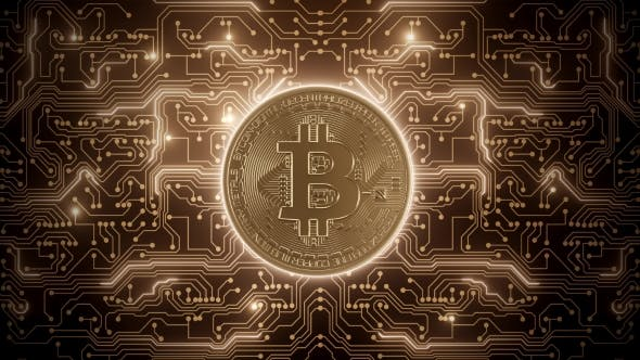 Thumbnail for Abstrakte Schleife Bitcoin Welt in Schaltungen