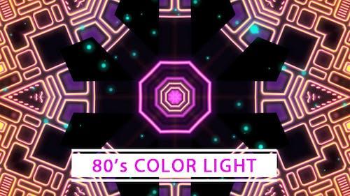 Boucle VJ de couleur des années 80