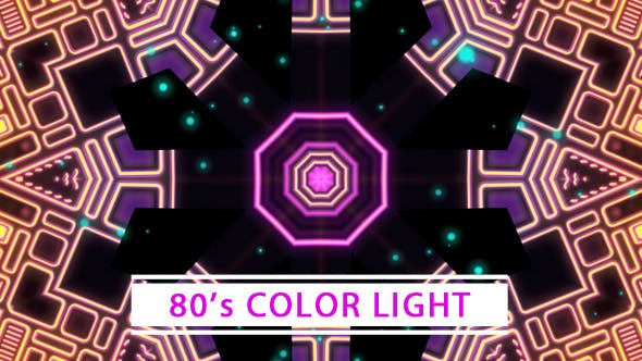 Thumbnail for 80's Color Light VJ Loop