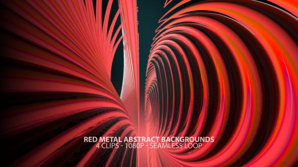 Thumbnail for Red Metal Abstract Backgrounds with Seamless Loop