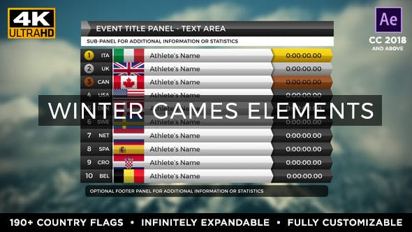 Thumbnail for 2022 Winter Games Elements - Medal Tracker & Event Results - Beijing China