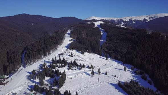 Aerial View of a Skii Resort