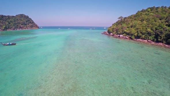 Thumbnail for Flying over Lana Bay on Phi-Phi Don Island