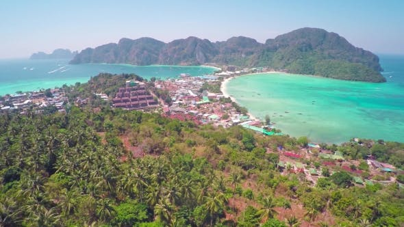 Thumbnail for Flying over Phi-Phi Don Island in Thailand
