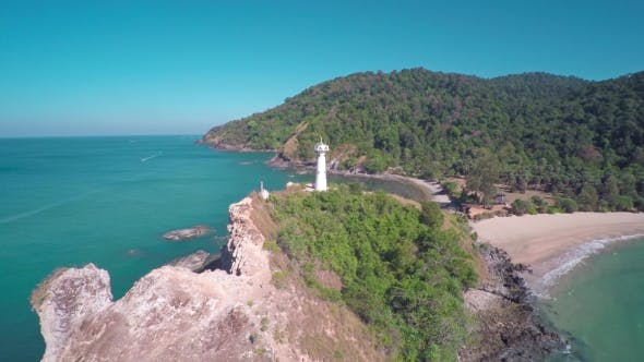 Thumbnail for Flying over the Lighthouse on Koh Lanta Island