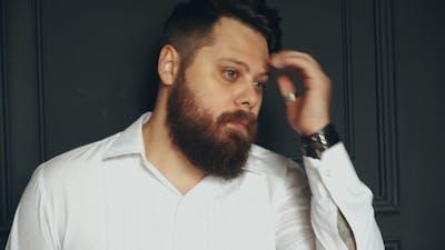 Bearded Man in Studio