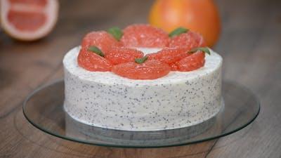 Homemade Cake with Grapefruit