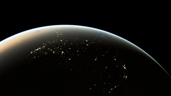 Thumbnail for Amazing Sunrise Over America Seen From Space