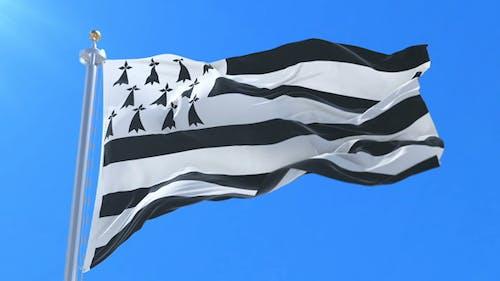 Brittany Flag Waving