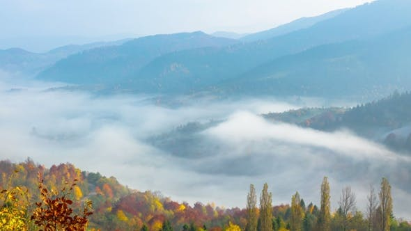 Thumbnail for Autumn Misty Morning in the Mountains