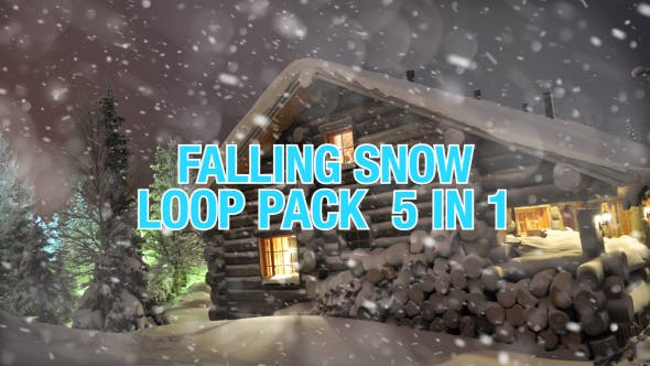 Falling Snow Pack 5 in 1