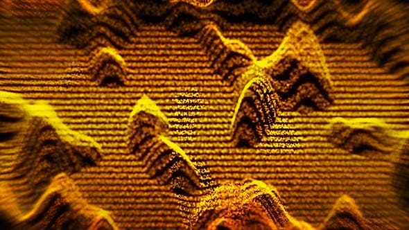 Thumbnail for Epic Gold Waves of Particles Background Loop