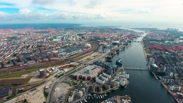 Thumbnail for City Aerial View Over Copenhagen