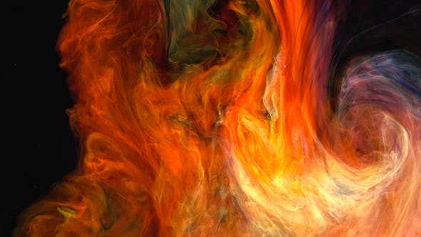 Thumbnail for Abstract Flame Colorful Paint Ink Diffusion Psychedelic.