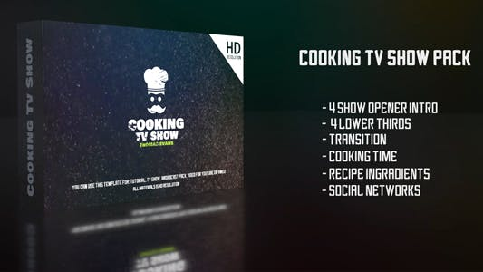 Thumbnail for Cooking Tv Show Pack