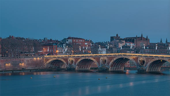 Thumbnail for Toulouse, France from Day to Night