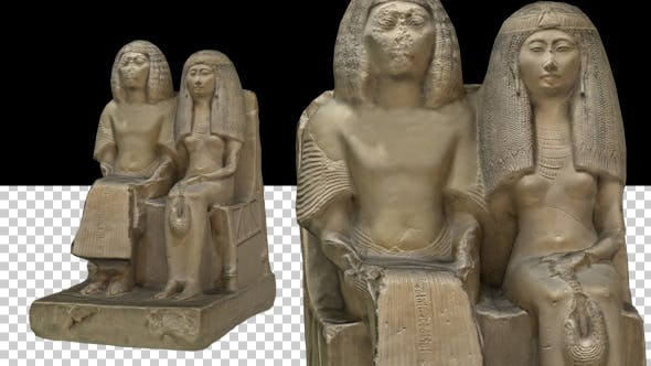 Thumbnail for Egyptian Couple Statue