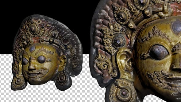 Thumbnail for Tibet Gold Face Statue