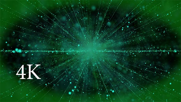 Green Cinematographic Particles 4K