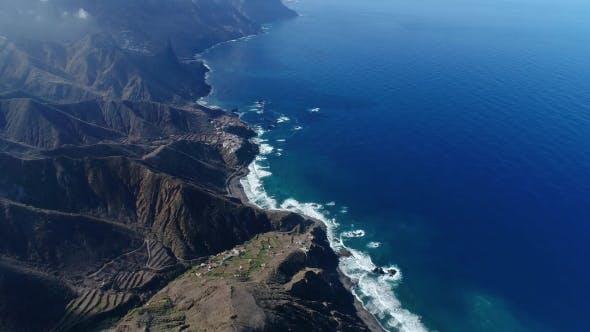 Thumbnail for Flight Over Beautiful Mountains Near Ocean Shore