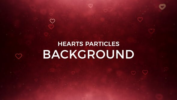 Cover Image for Hearts Particles Background