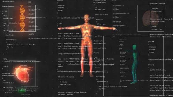 Thumbnail for Medical männlich/Mann Anatomie Medical HUD Animation