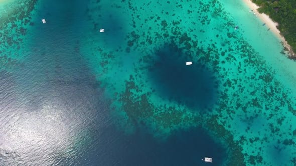 Thumbnail for Top View Aerial Video of Beach, Corals and Sea