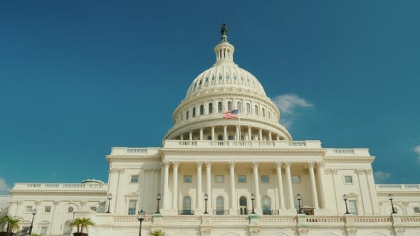 Thumbnail for The Majestic Famous Capitol Building in Washington, DC. Against the Background of the Blue Sky