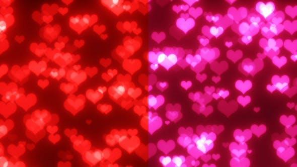 Thumbnail for Valentine Hearts Glitter