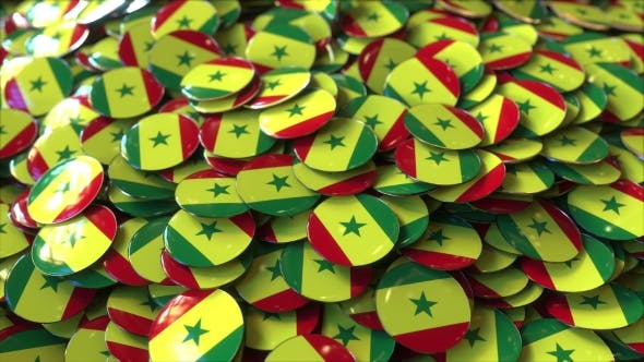 Thumbnail for Pile of Badges Featuring Flags of Senegal