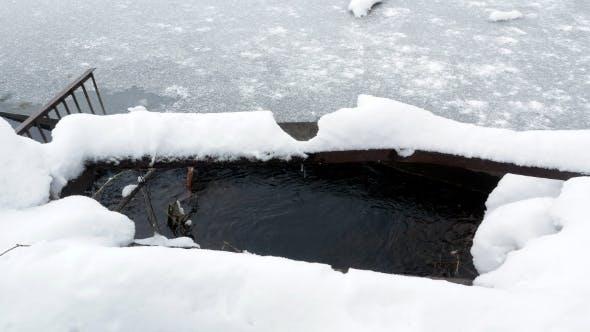 Thumbnail for Evening on an Frozen Lake Water Dam