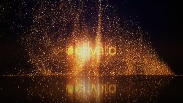 Gold Glitters Logo Reveal