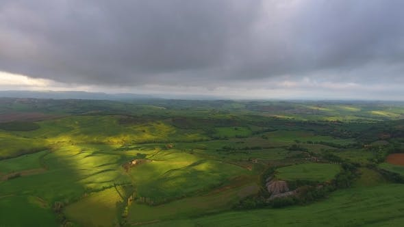 Thumbnail for Tuscany Aerial Landscape at Morning in Italy