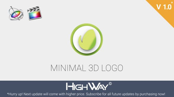 Thumbnail for Minimal 3D Logo Reveal | Apple Motion & FCPX