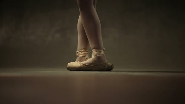 Thumbnail for Girl Ballerina Posing In Studio