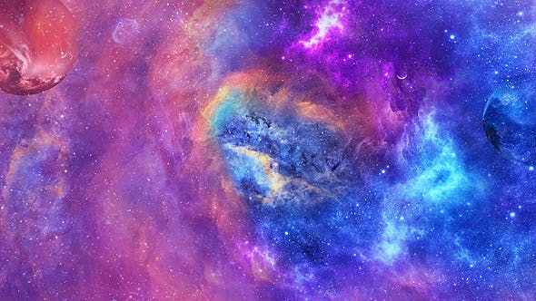 Thumbnail for Abstract Colorful Space Nubulae and Hyper Jump Through Warp Tunnel