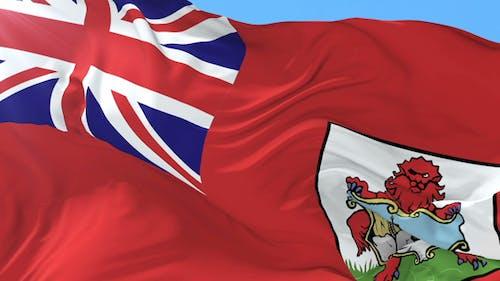 Flag of Bermuda Waving