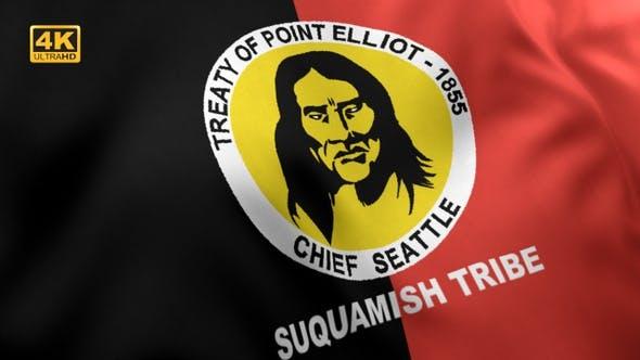Thumbnail for Suquamish Tribe Flag - 4K