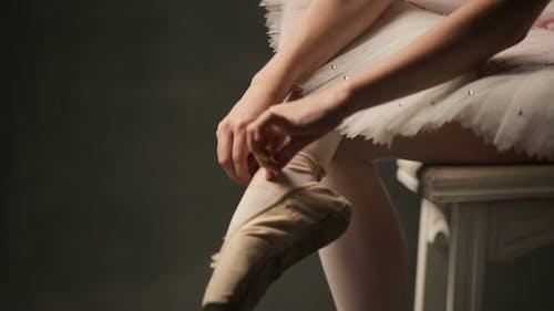 Ballerina In Ballet Studio