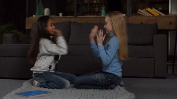 Thumbnail for Joyful Multi Ethnic Children Playing Clapping Game